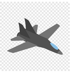 Military aircraft isometric icon vector