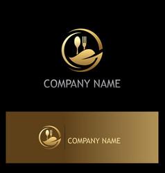 organic food gold luxury logo vector image