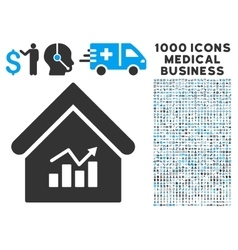 Realty Charts Icon with 1000 Medical Business vector image vector image