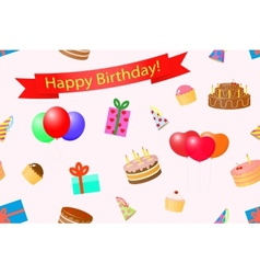 Seamless background on a theme birthday vector