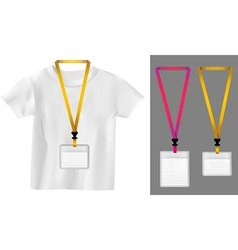 Set of lanyard retractor end badge Templates vector image