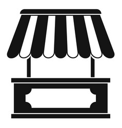Street kiosk icon simple style vector