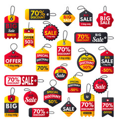 super sale extra bonus red banners text label vector image vector image