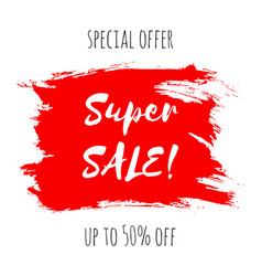 super sale lettering inscription special offer vector image