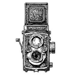 twin-lens reflex camera vector image vector image