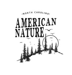 typography logo with forest vector image