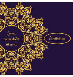 Template with vintage gold luxury ornament and vector