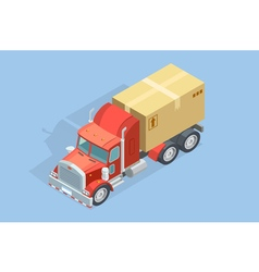 Heavy truck isometric template vector