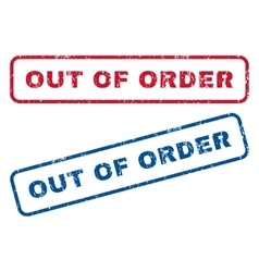Out of order rubber stamps vector