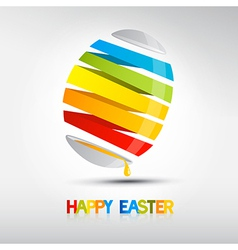 Easter egg shiny colors happy easter celebration vector