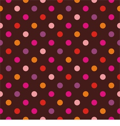 Seamless dark pattern with colorful polka dots vector