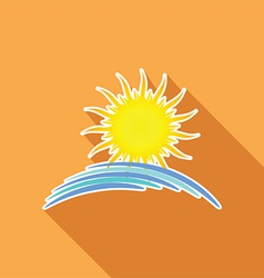 Summer sun background vector image