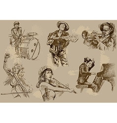 Musicians - an hand drawn pack vector