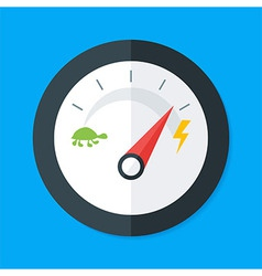 Speedometer flat stylized vector