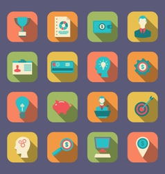 Flat Colorful Icons of Web Design Objects vector image
