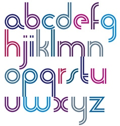 Rounded bold joyful parallel cartoon lowercase vector