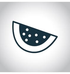 Watermelon piece black icon vector