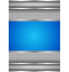 Background template metallic texture blue blank vector