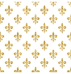 Golden fleur-de-lis seamless pattern white 2 vector