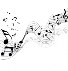 Musical notes vector