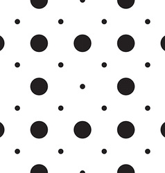 Seamless patterns with white and black peas polka vector