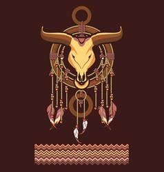 Aztec dreamcatcher vector