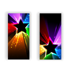 Banner with Rainbow Rays vector image vector image