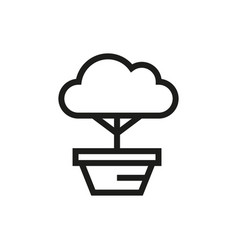 bonsai tree icon on white background vector image vector image