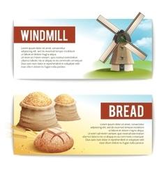 Bread banner set vector