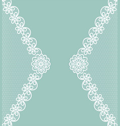 Card with lace borders vector