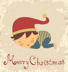 Christmas baby card vector image
