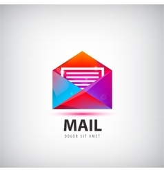 Colorful mail logo icon vector