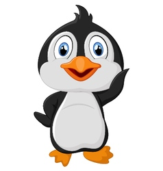 Cute cartoon penguin vector image