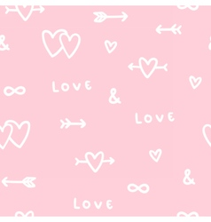 Cute romantic love seamless pattern vector image
