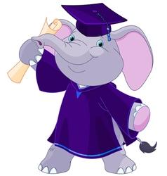 Elephant graduates vector