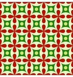 Flower geometric seamless pattern vector image vector image