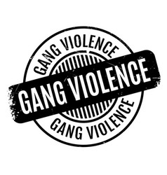 Gang violence rubber stamp vector