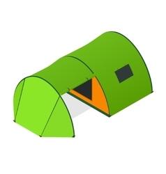 Green camping tent vector
