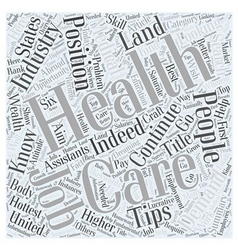 Health Care Job Search Tips Health Is Wealth vector image