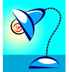 internet lamp vector image vector image