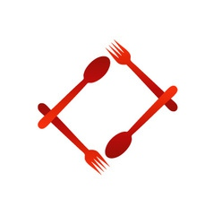 Logo for a restaurant or cafe vector image vector image