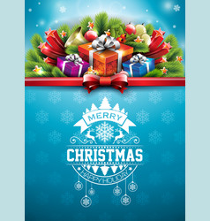 merry christmas with typography and vector image