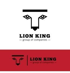 minimalistic lion logo Lion face logotype vector image