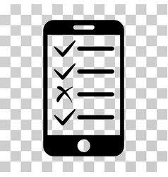 mobile tasks icon vector image