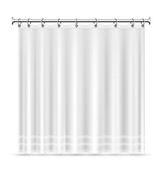 Realistic shower curtains template for vector