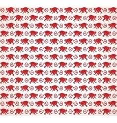 Red monkeys seamless pattern vector