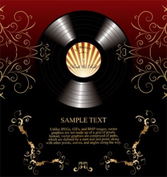retro vinyl background vector image vector image