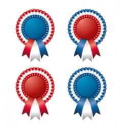 ribbon rosette vector image