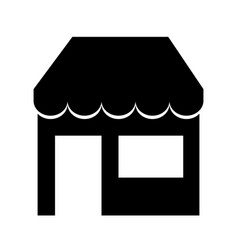 Store building isolated icon vector
