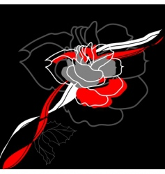 stylized rose flower vector image vector image